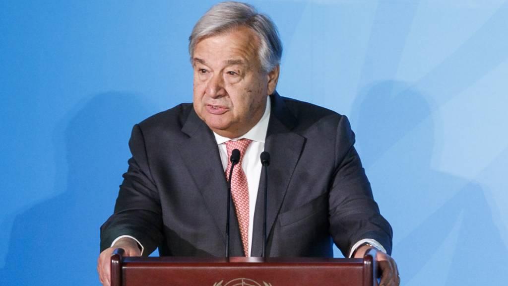 Uno-Generalsekretär warnt vor Bruch der Welt