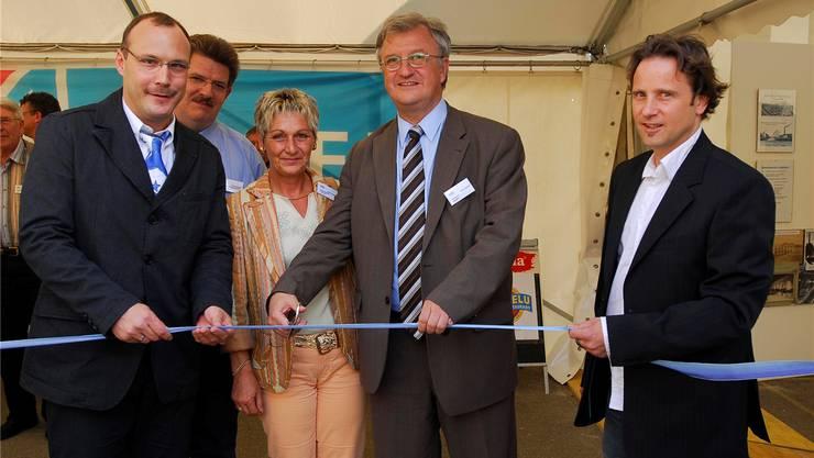 2007 war die hohe Zeit des Politikers Hugo Schumacher (links). Er eröffnete die Gewerbeausstellung alsGemeindepräsident gemeinsam mit dem damaligen Ständerat Rolf Büttiker (Mitte). Urs Lindt