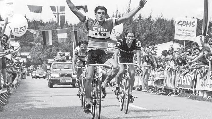1981: Daniel Gisiger jubelt als erster Schweizer Sieger beim 18. Grossen Preis des Kantons Aargau
