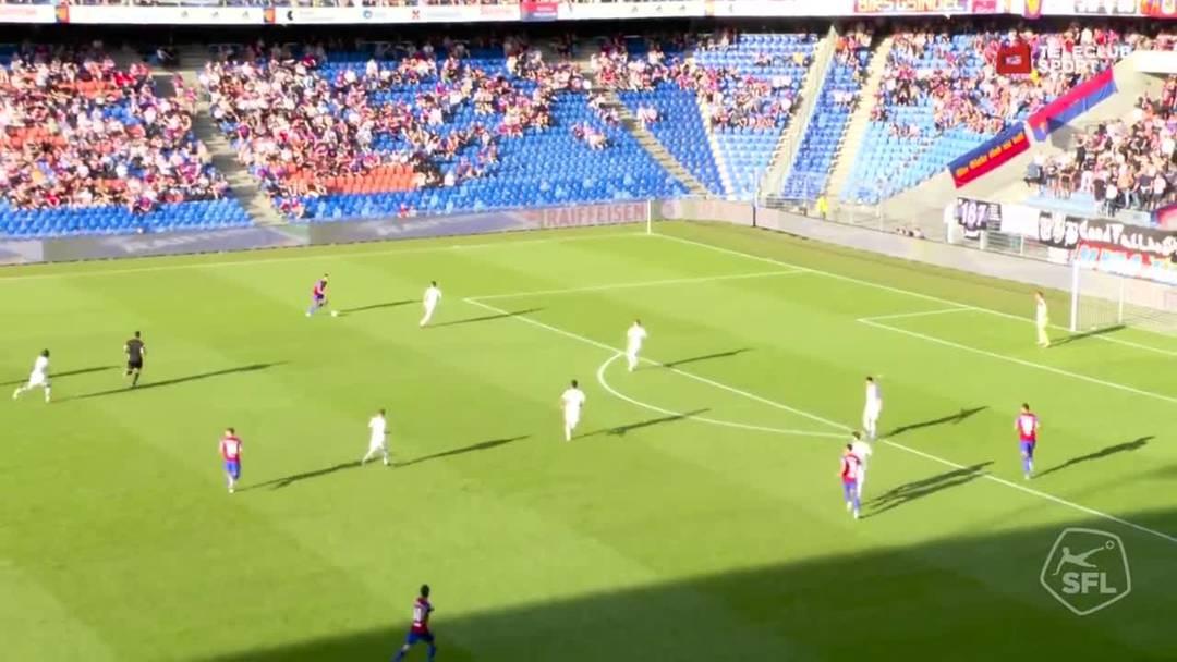 Super League, 2019/20, 4. Runde, FC Basel - Servette FC, 4. Minute: Eigentor von Steve Rouiller.