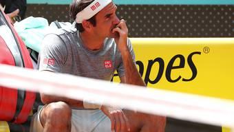 Der Maestro während einer Trainingspause in Madrid - in Gedanken versunken