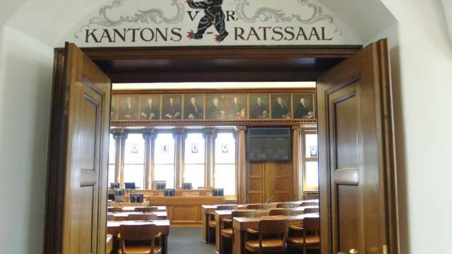 Blick in den Kantonsratssaal in Herisau (Archiv)