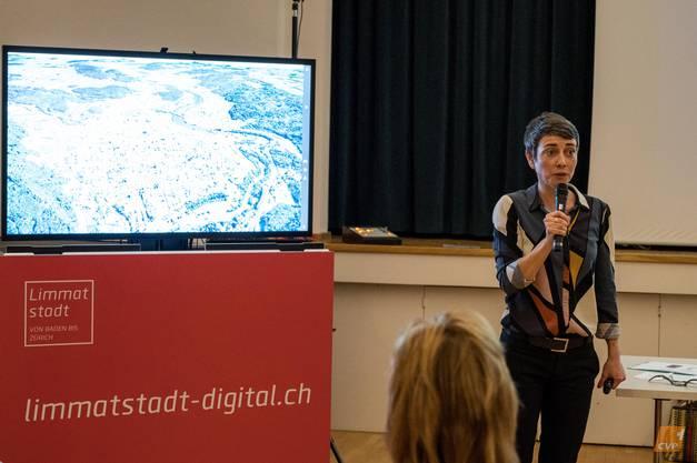 Gastrednerin Jasmina Ritz, Geschäftsführerin der Limmatstadt AG.