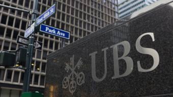 Logo der Grossbank UBS in New York