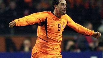 Das gibts an der EM nicht: Ein jubelnder Ruud Van Nistelrooy.