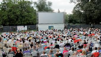 Mehrere tausend Besucherinnen und Besucher verzeichnete das Open-Air-Kino in Bad Zurzach jeweils.