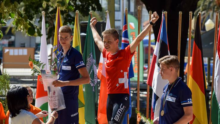 Adrian Jäggi bei der Siegerehrung
