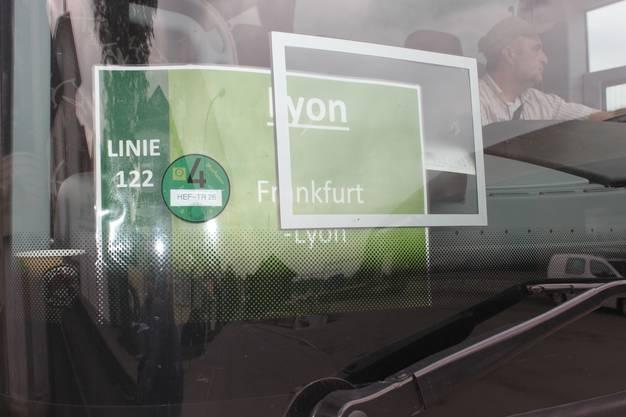 Die neue Linie 122 verkehrt zwischen Lyon und Frankfurt
