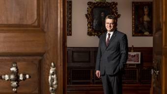 «Die Stadt steht trotz der Pandemie gut da»: Franco Mazzi im Rathaussaal.