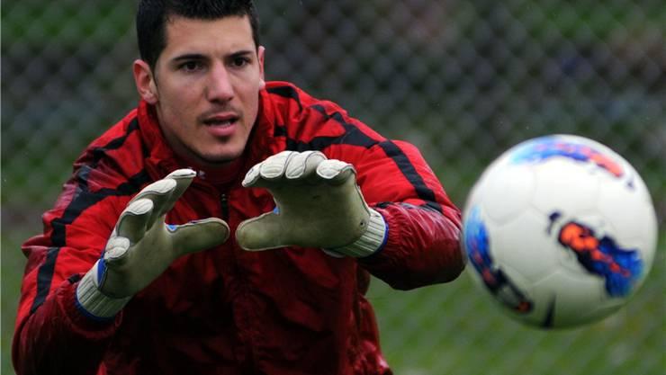 Goalie Pablo Molina steht im heutigen Derby für Solothurn im Tor, er war allerdings auch schon für den Erzrivalen FCG Torhüter.
