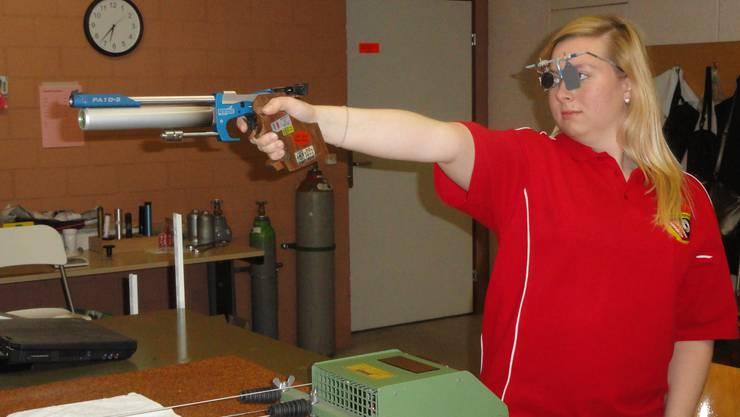 Die Gewinnerin des Luftpistolenbewerbs, Tanja Spiess vom Schiessverein Zunzgen Tenniken.