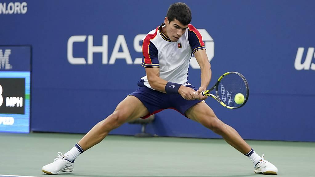 Carlos Alcaraz ist der jüngste Grand-Slam-Viertelfinalist seit 1990.
