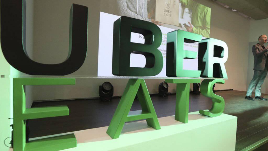 Uber will seinen Dienst für Essenslieferungen in der Romandie lancieren. In den USA deckt Uber Eats bereits rund die Hälfte der Bevölkerung ab. (Archiv)