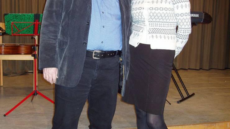 Peach Weber mit Jana Kaufmann, Präsidentin Podium Wettswil. (Bild zvg.)