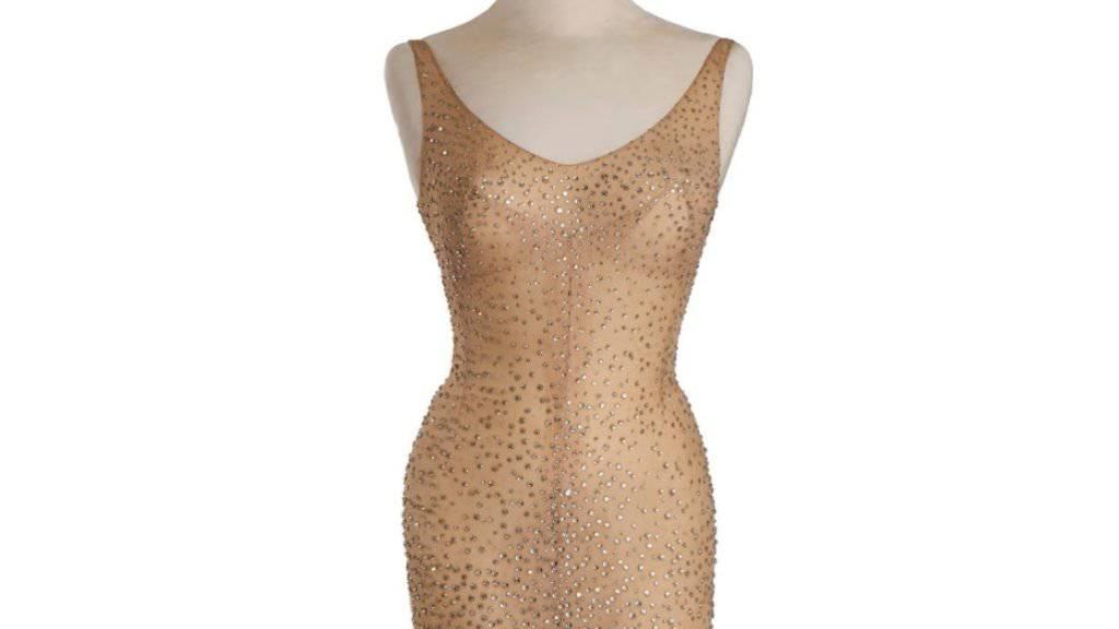 """In diesem Kleid sang Schauspielerin Marylin Monroe 1962 ihr bekanntes """"Happy Birthday, Mr. President"""" für John F. Kennedy. Es gehört nun einem Kuriositäten-Museum."""