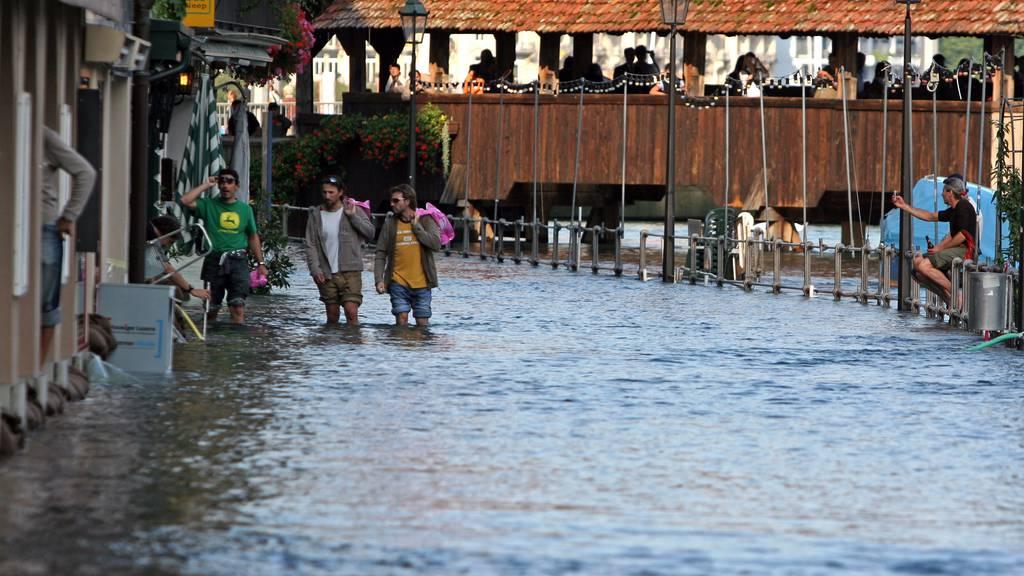 Das Hochwasser 2005 – Luzern stand unter Wasser