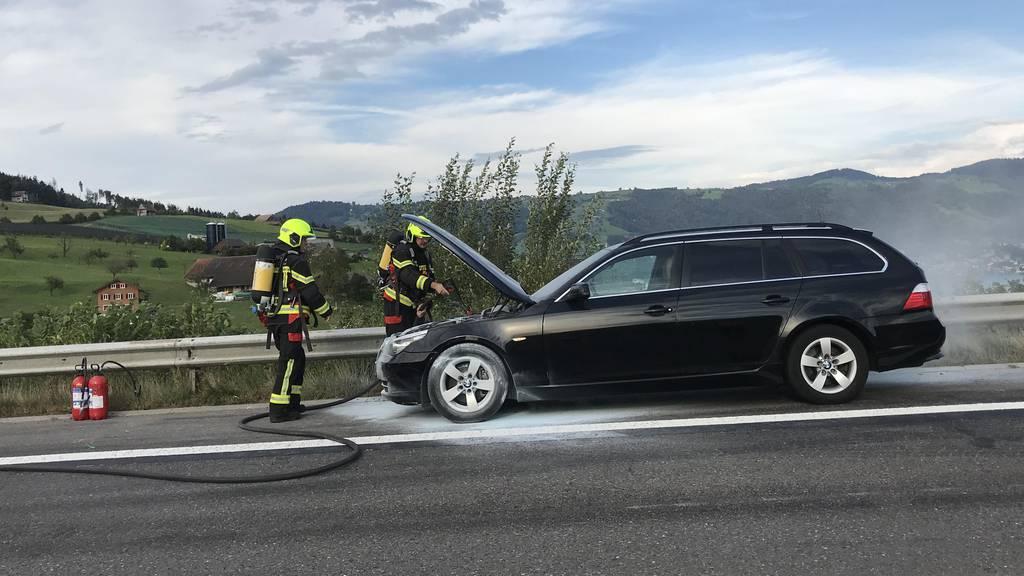Autobahn A4 wegen Autobrand vorübergehend gesperrt