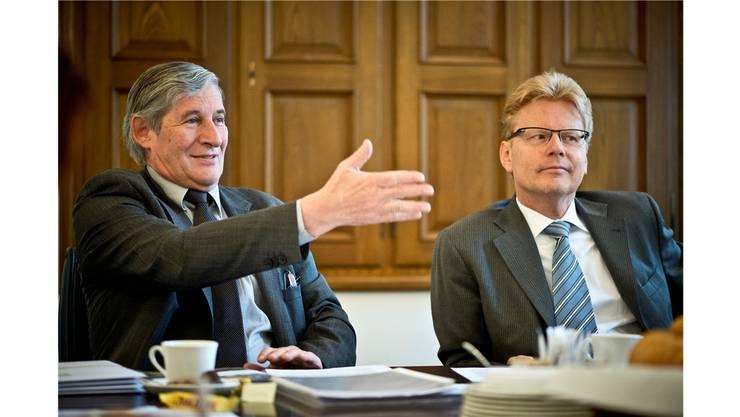 «Qualitativ wollen wir die Besten im Aargau sein»: Hans-Rudolf Wyss (links) und Daniel Bieri. Annika Bütschi