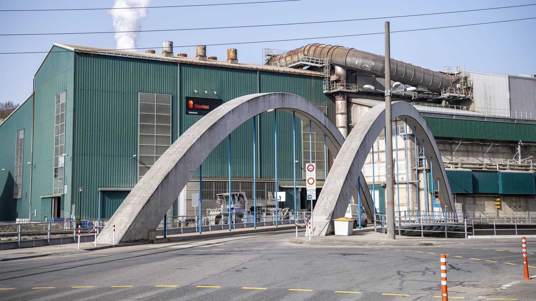 Der Produktionsstandort der Steeltec und Swiss Steel in Emmenbruecke im Kanton Luzern am Mittwoch,24. Februar 2021.