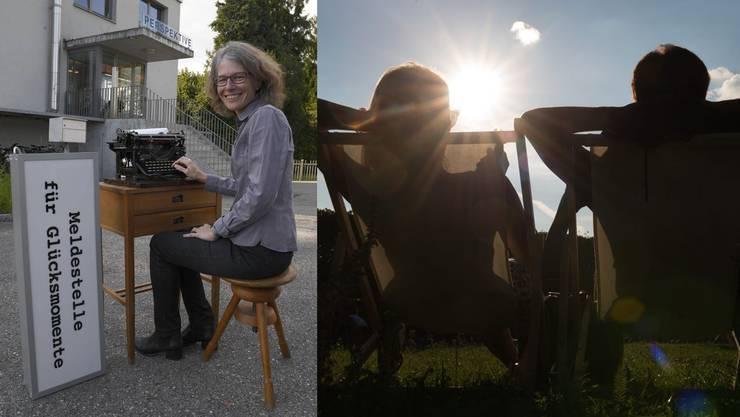 Karin Stoop hat die Meldestelle für Glücksmomente nach Solothurn gebracht.