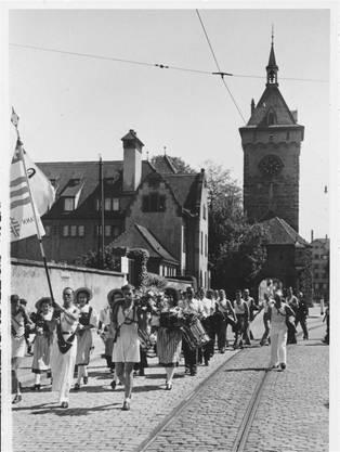 Rückkehr vom kantonalen Turnfest 1906.