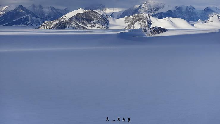Ein Brite hat am Freitag ebenfalls eine Reise allein durch die Antarktis geschafft. (Symbolbild)