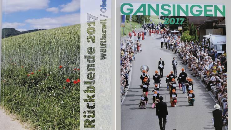 Die aktuelle Dorfchronik der Gemeinden Wölflinswil und Oberhof wurde erstmals farbig gestaltet. Die Gansinger Dorfchronik 2017 thematisiert unter anderem den 125. Geburtstag der Musikgesellschaft.