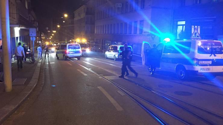 Brand in einer Zelle: Die Innere Margarethenstrasse musste abgesperrt werden.