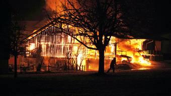 Brand in Seewen zerstört Bauernhof