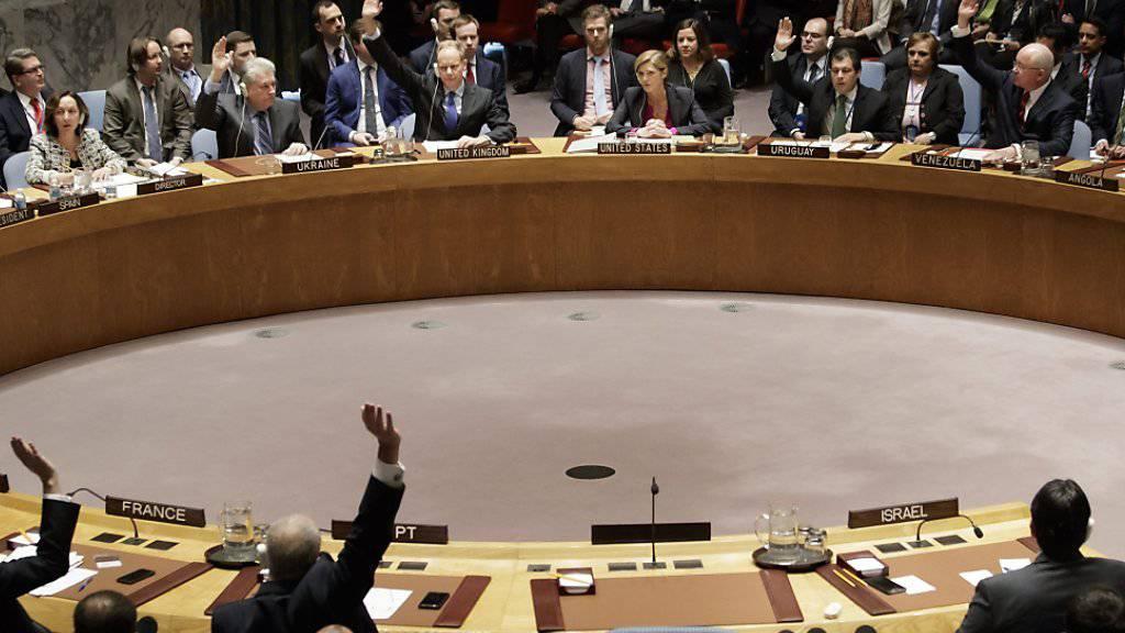 Abstimmung im UNO-Sicherheitsrat (Archiv)