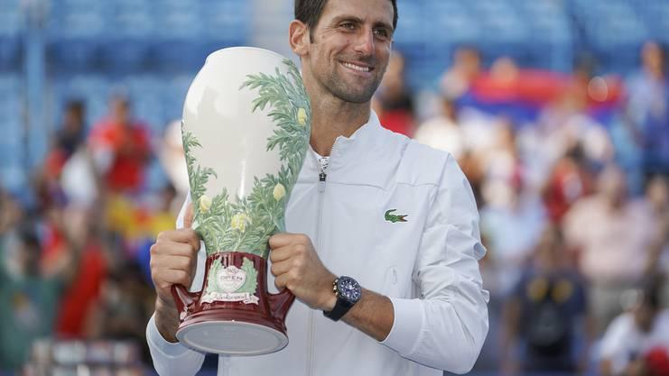 Historisch: Novak Djokovic hat als erster Spieler alle neun Masters-1000-Turniere mindestens einmal gewonnen.