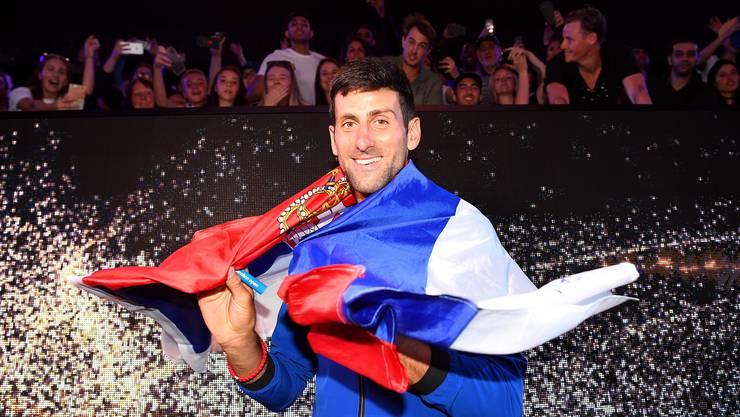 Rekordsieger, Titelverteidiger und Favorit: Novak Djokovic.