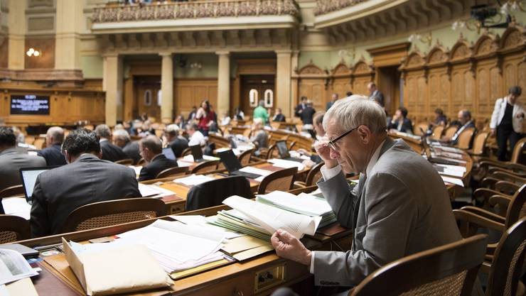 FDP-Nationalrat Kurt Fluri, Mit-Architekt des sogenannten «Inländervorrang light», während der Debatte am Mittwoch.