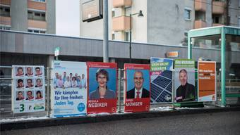 Eine Partei fehlt seit 2015 an den einschlägigen Wahlplakat-Aushangstellen wie hier in Birsfelden. (Archiv)