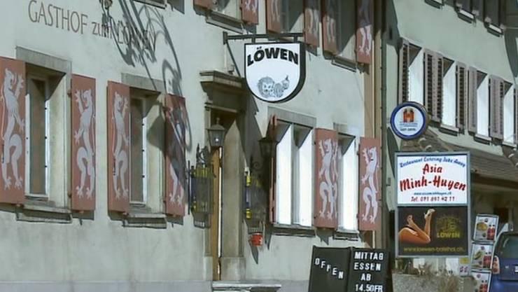 Ort des Verbrechens: Cabaret Löwen in Balsthal