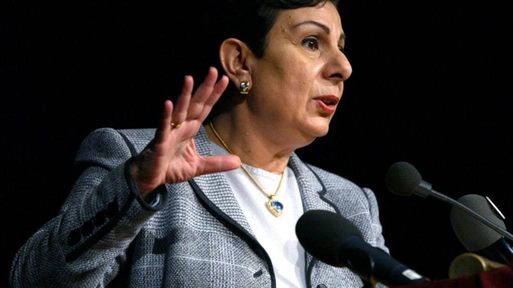 Die führende PLO-Vertreterin Hanan Aschrawi wies den Wirtschaftsplan der USA zurück. Die Palästinenser müssten wieder die Kontrolle über ihre Grenzen, ihren Luftraum und ihre Gewässer erhalten, schrieb sie auf Twitter. (Archivbild)