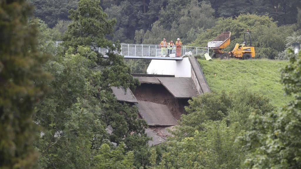 Damm in Nordengland ist wieder sicher - Einwohner dürfen zurück