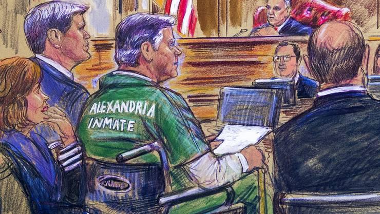 Paul Manafort erschien im Rollstuhl vor Gericht.