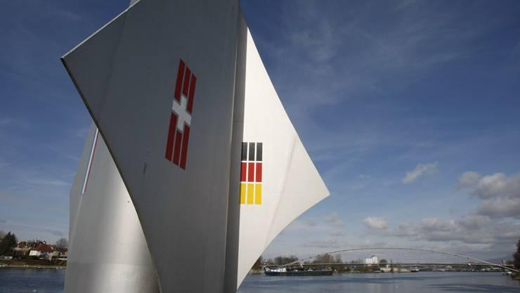 Das Tourismusprojekt «Upper Rhine Valley» erhält 1,3 Millionen Euro (im Bild: Dreiländereck bei Basel).