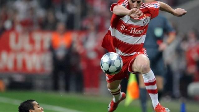 Franck Ribéry lief Barças Defensive öfters davon