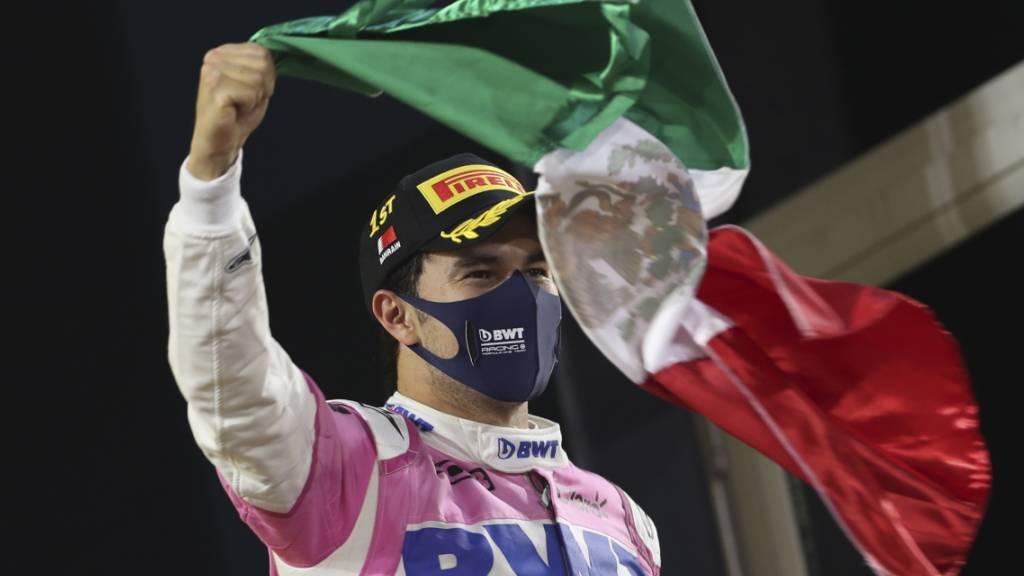 Sergio Perez winkt seinem alten Team Racing Point «Goodbye»
