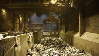 Müll im Betonbunker der Kebag Zuchwil.