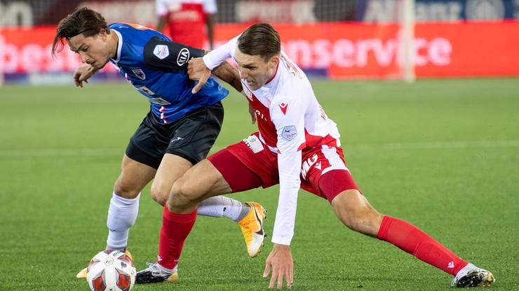 Der FC Aarau verlangt dem FC Thun in der zweiten Halbzeit alles ab.