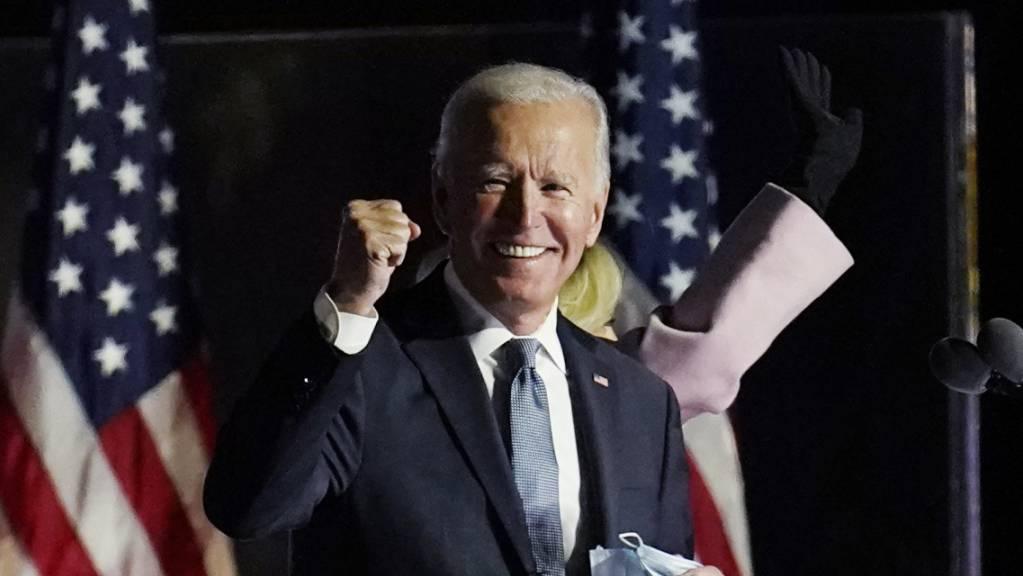 ARCHIV - Der neu gewählte US-Präsident Joe Biden spricht in Wilmington im US-Bundesstaat Delaware. Foto: Paul Sancya/AP/dpa