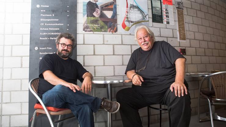 Kultur-Brückenbauer der ersten Stunde: Pipo Kofmehl (l.) und Heinz Urben, Co-Leiter des Regionsprogramms Kultur.