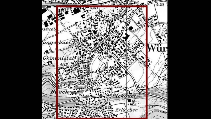 Innerhalb dieses Rasters im Gebiet der Gemeinde Würenlos könnte es vermehrt zu Einbrüchen kommen.