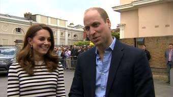 «Der Frühling liegt in der Luft»: Prinz William und Herzogin Kate gratulierten Harry und Meghan am Dienstag offiziell zur Geburt ihres Sohnes.