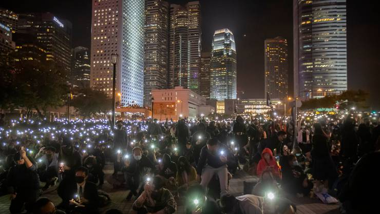 Protestierende in Hongkong am 12. Dezember.