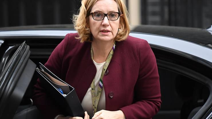 Die Innenministerin Grossbritanniens Amber Rudd schmeisst ihr Amt hin. (Archivbild)