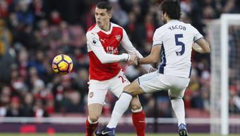 Arsenal gelang mit Granit Xhaka (links) eine Aufholjagd